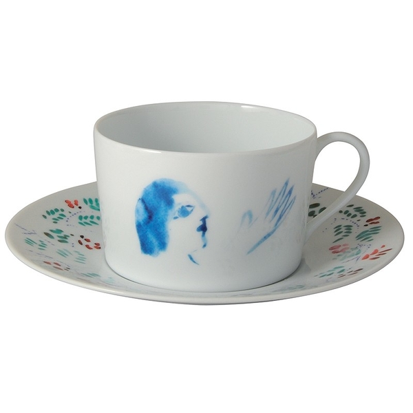 Set of 2 Chagall cups and saucers