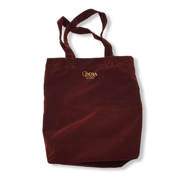 Tote Bag Rouge Velours